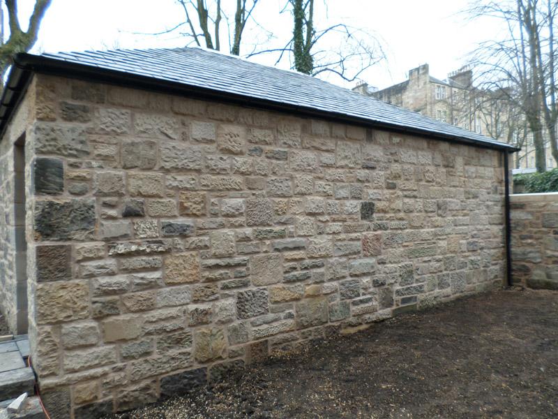 New build ayrshire masonry construction stonemason for Build a new garage
